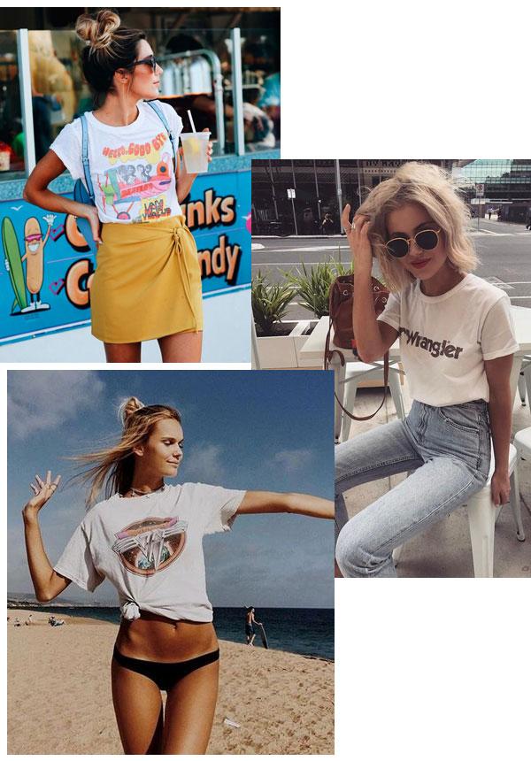 Laura Jade Stone - camiseta - peças clássicas - meia-estação - street style