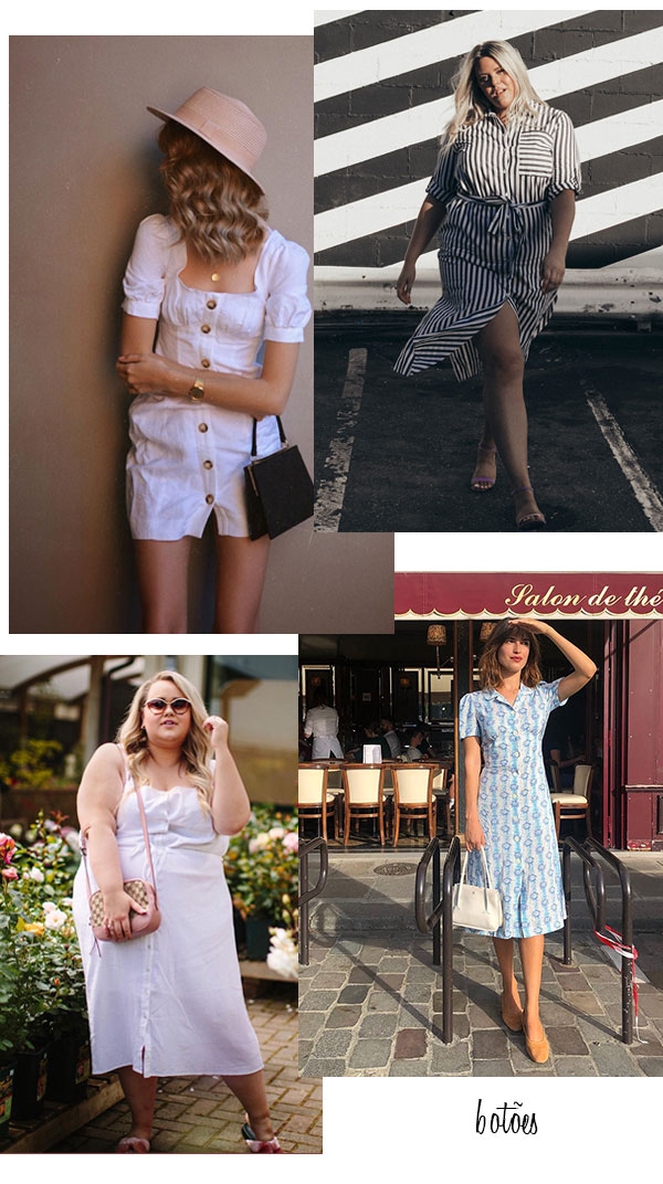 it-girls - vestido - vestido-botões - verão - street style 2019